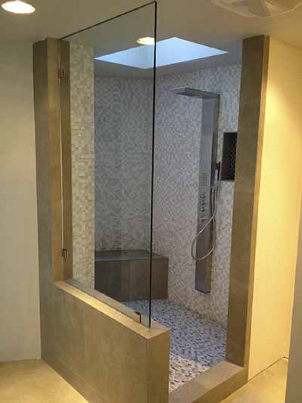 Custom Heavy Glass Shower Enclosure